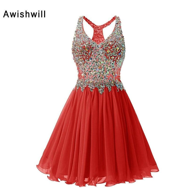 Pravi foto Crvena / šampanjac / Royal Blue Kratki haljine za ples - Haljina za posebne prigode - Foto 5