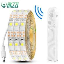 Hkzzi 1 м 2 м 3 м движения Сенсор Светодиодные ленты ночник IP65 шкаф для спальни Лестницы свет Светодиодные ленты лампы 5 V для ТВ тыловая подсветка