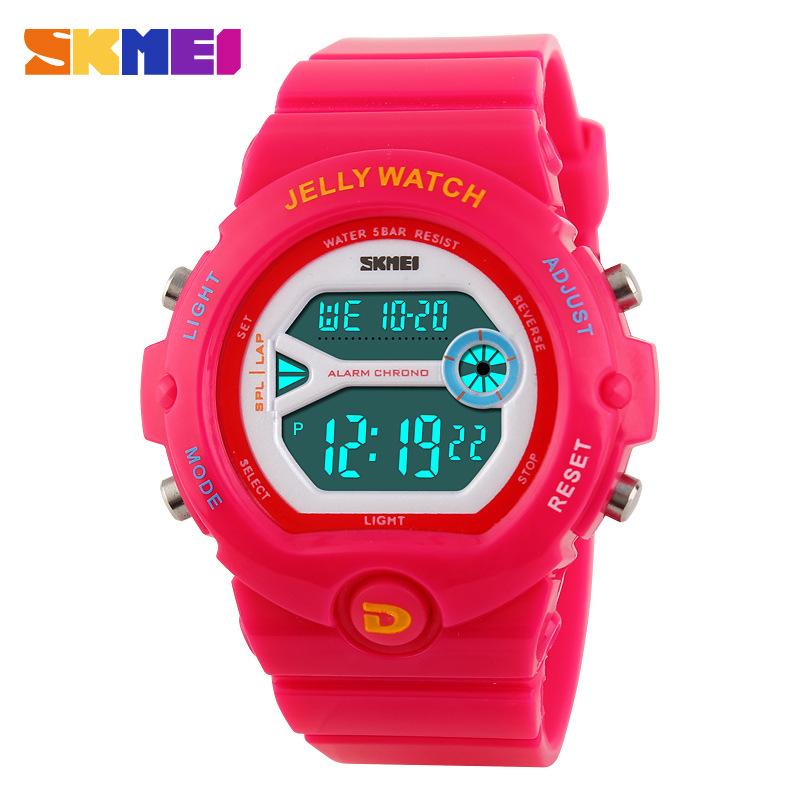 Prix pour 2016 SKMEI Garçons Filles Led Numérique Sport Montres Alarme Date Chronographe Montre Mode Casual Étudiants montre-bracelet PU bracelet Horloge