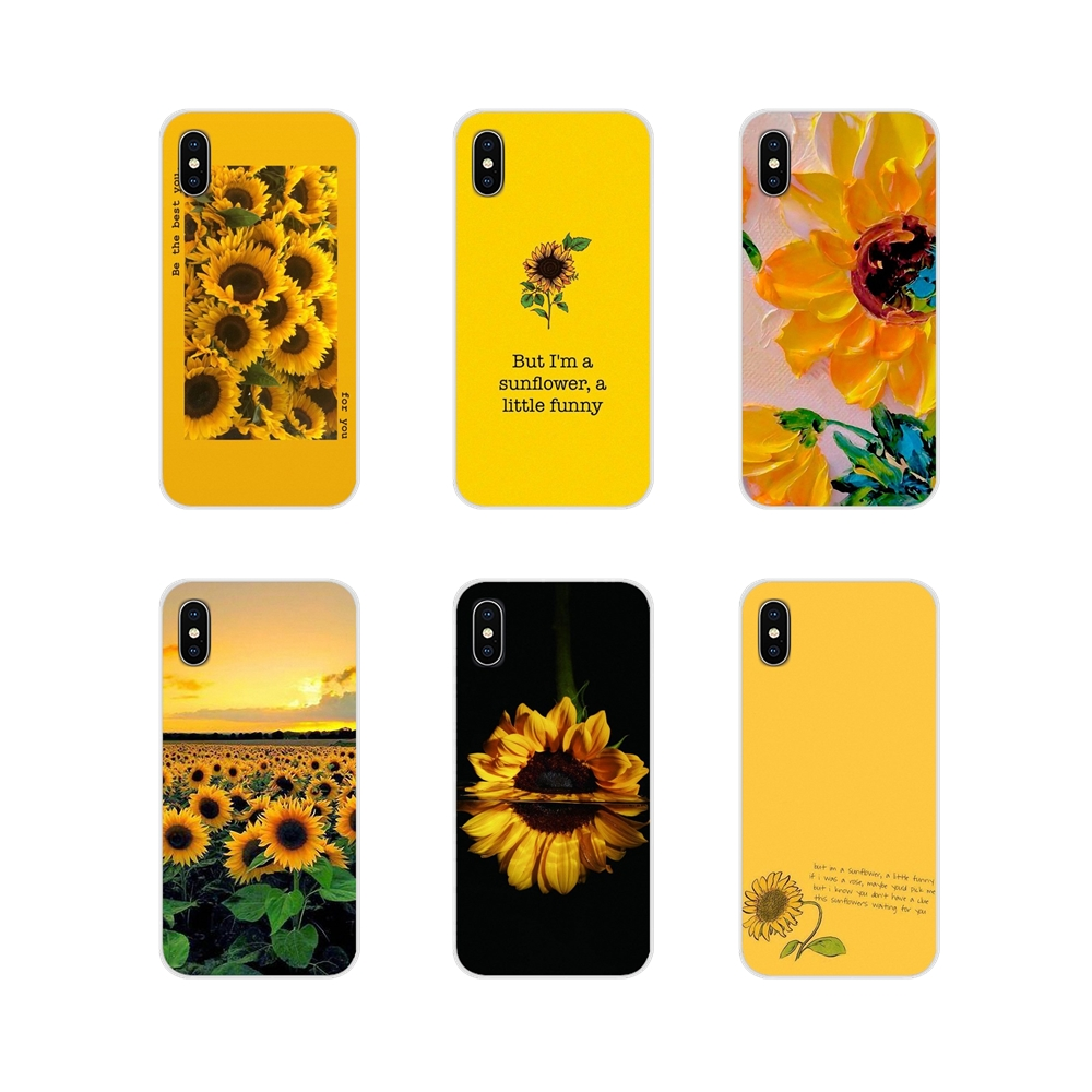 For Motorola Moto X4 E4 E5 G5 G5S G6 Z Z2 Z3 G3 G2 C Play Plus Accessories Phone Cases Covers Beautiful yellow flower sunflower