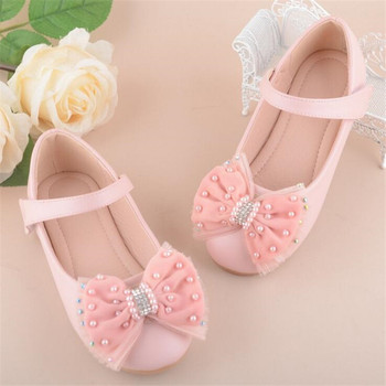 2018 New Princess Children's Shoes Boys Girls Wedding Shoes Fashion Flower Dress Diamond Party Shoes Girl Size 24-37