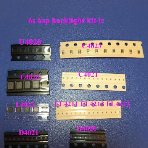 20 setleri (220 adet) arka ışık için fix kiti iPhone 6 S ic U4020 + Bobin L4020 + L4021 + Diyot D4020 + D4021 + kondansatör C4022 C4023 C4021