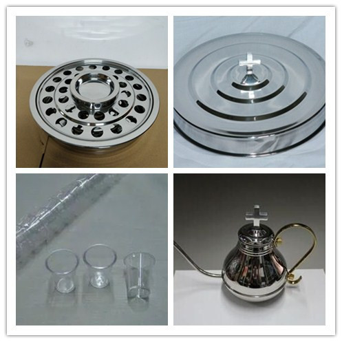 Hot Design Dishes Stainless Steel Communion Tray With 40 Plastic