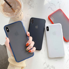 Simple Matte silicon phone Case for iphone X XR XS Max 7 8 6 6s Plus translucent case cover Protective shell