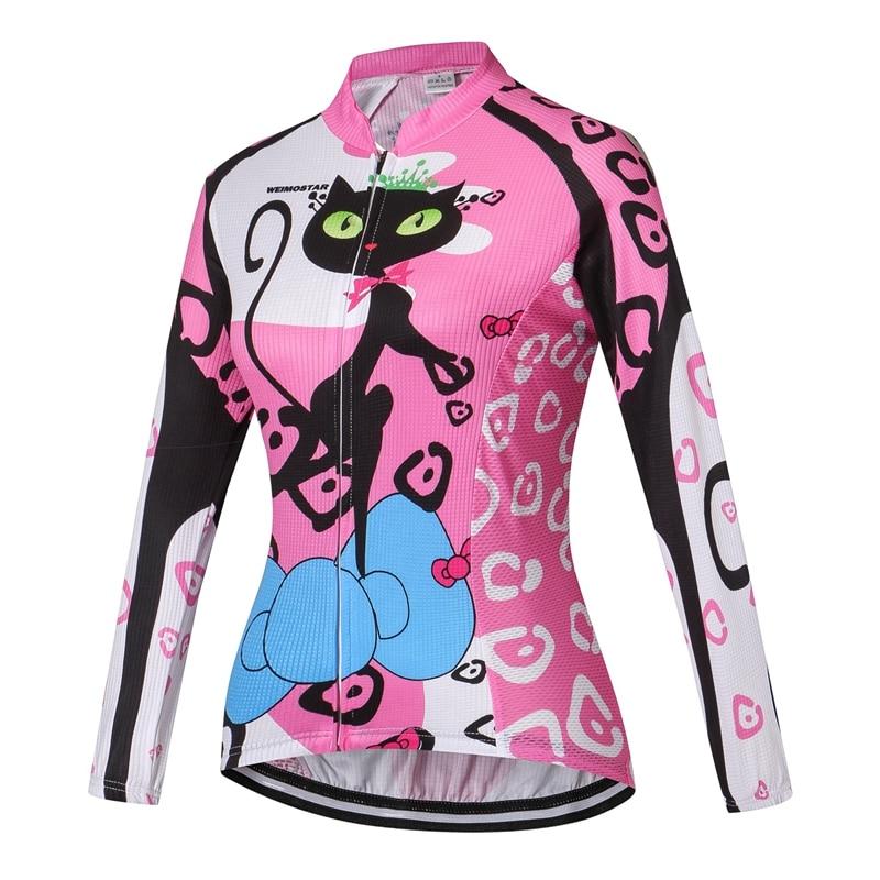WEIMOSTAR Team Cat női kerékpáros trikó Ropa Ciclismo Kerékpár - Kerékpározás - Fénykép 4