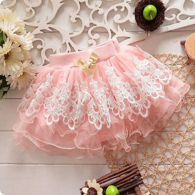 Retail Moda Niños ropa de sport Del Verano muchachas de la falda del tutú faldas del bebé niños de encaje balón vestido de edad 1-4 años 1 unids/lote