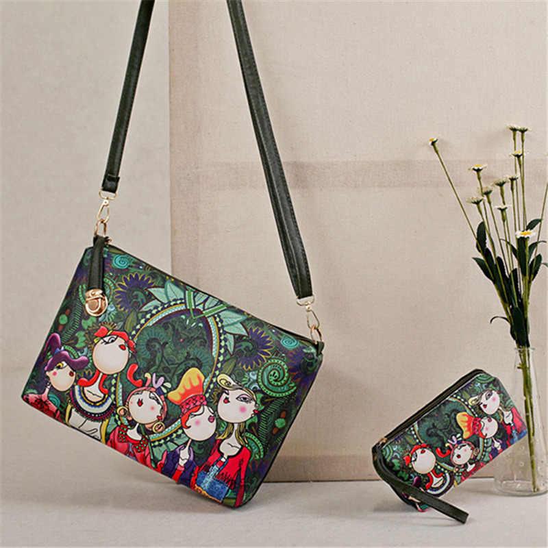 Осмонд зеленый Для женщин сумка 6 шт. Комплект женский искусственная кожа сумка Роскошные ключ Сумки и кошельки с рисунком Большой сумки Bolsa
