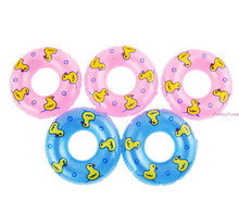 5Pcs/lot Dolls Accessory Swimming Buoy Lifebelt Ring For Barbie Doll Accessories Baby Girl Dollhouse Toys best gift