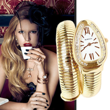 New Fashion Luxury Snake Bracelet Quartz Women Watch Vintage Watch Lady Dress Wristwatch Girl Accessory Gift Relogio Feminino