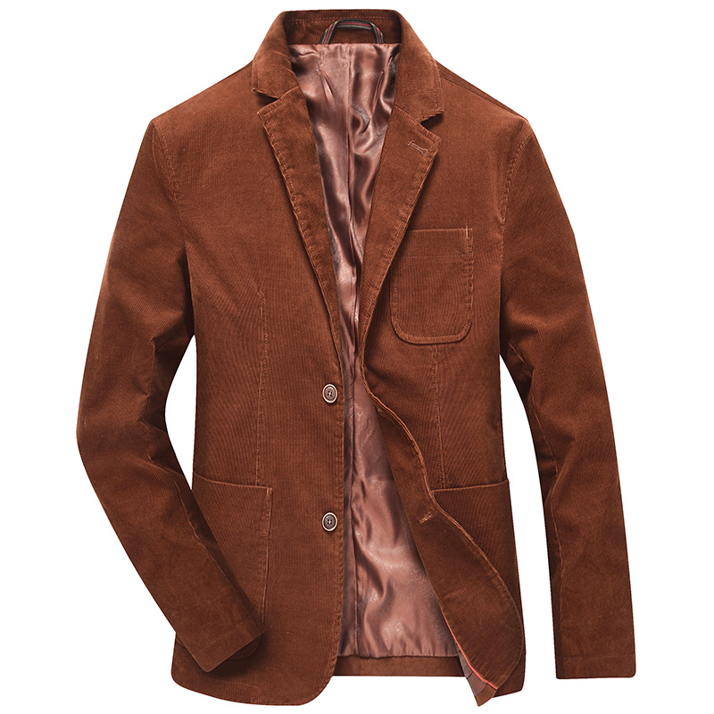 Mens Wool Blazer Striped Jacket Elbow Patch Blazer Tweed Blazers Coat Business Casual Overcoat Shierxi Sale Price Blazers Men's Clothing