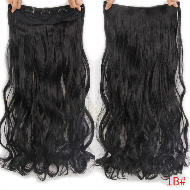 "AISI HAIR 22"" 17 Colors Long Wavy High Temperature Fiber Synthetic Clip in Hair Extensions for Women 5"