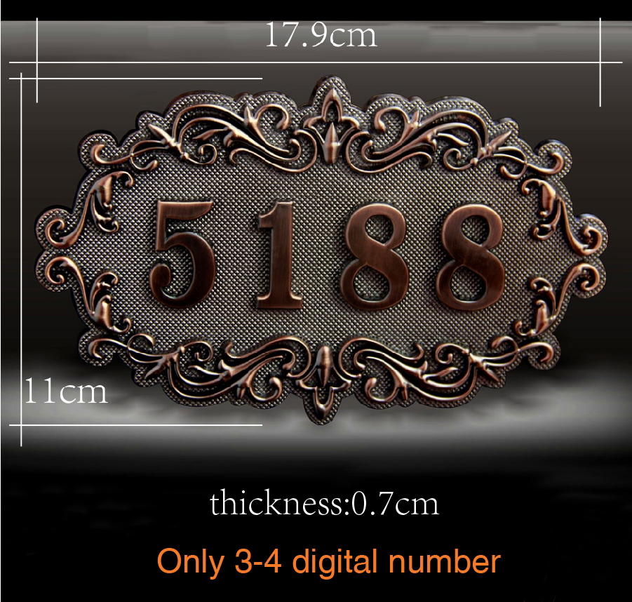 House Number; European style Door Sign; Gate Number;Custom-made;3 to 4 numbers;Apartment,House,Hotel,Villa door plate,House Number; European style Door Sign; Gate Number;Custom-made;3 to 4 numbers;Apartment,House,Hotel,Villa door plate,