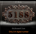House Number; European style Door Sign; Gate Number;Custom-made;3 to 4 numbers;Apartment,House,Hotel,Villa door plate,