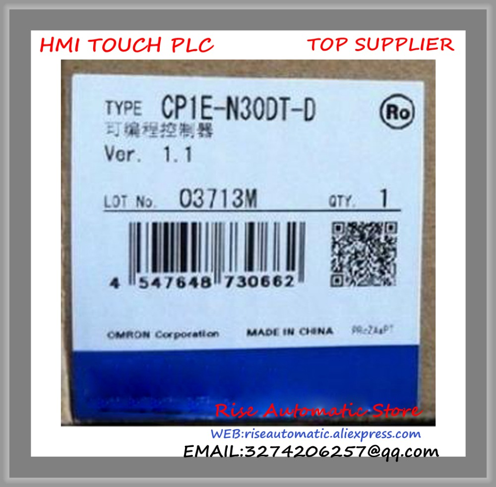 New Original Programmable Logic Controller CP1E-N30DT-D PLC CP1E CPU unit DC24V 18 DI 12 DO Transistor new original programmable logic controller module fx3g 14mr plc 100 240vac main unit