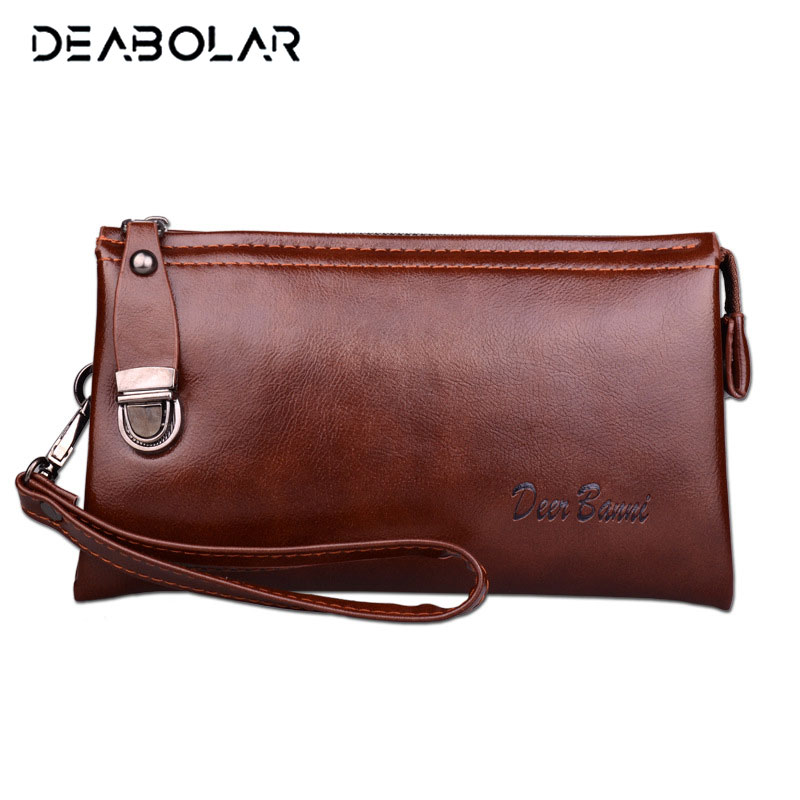 Men Leather Long Wallet Cartera Hombre Male Handy Bags Clutch Purse Men Monederos Wallets Luxury Famous Brand купить