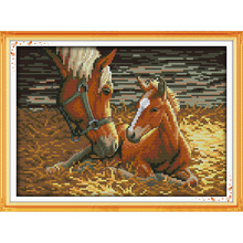 Everlasting love Christmas Deep of mother and son(2)  Chinese cross stitch kits Ecological cotton New store sales promotion