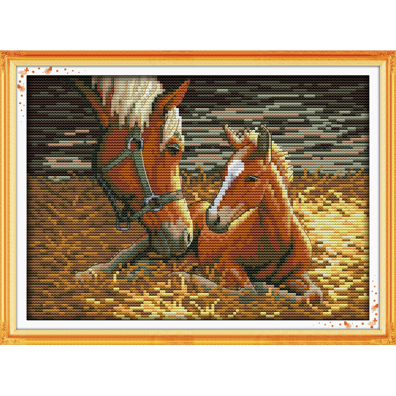 Everlasting love Christmas Deep love of mother and son(2) Chinese cross stitch kits Ecological cotton New store sales promotion