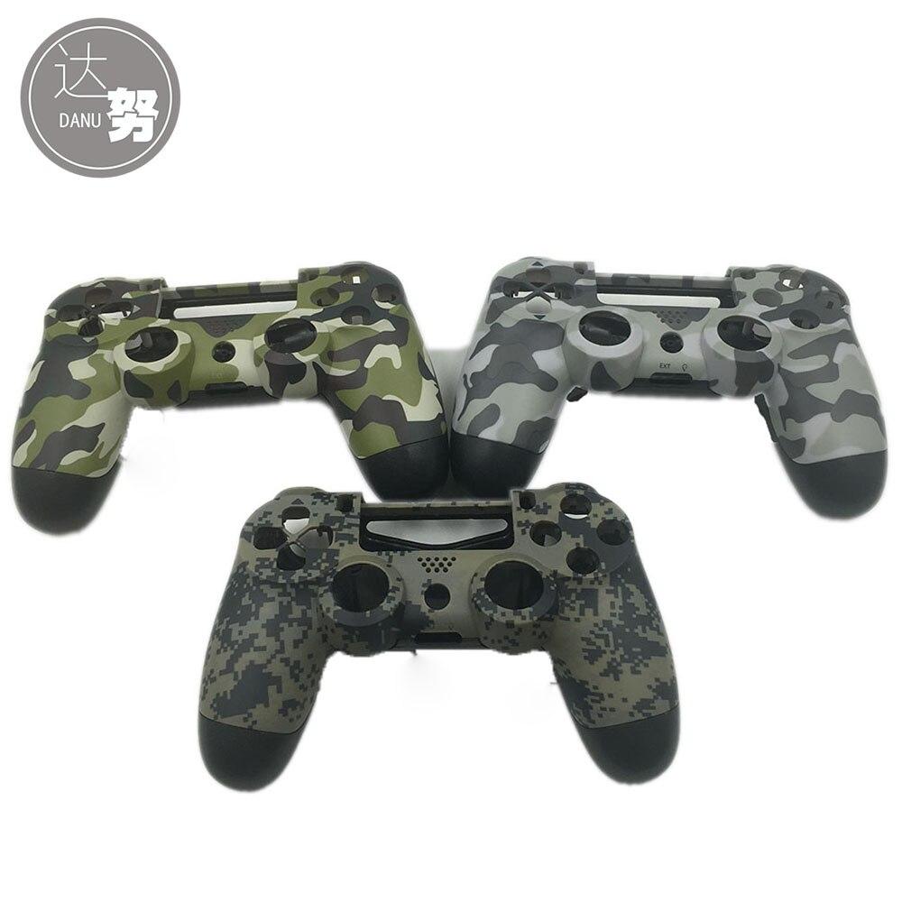 6 conjuntos OEM camuflaje cuerpo mate carcasa parte para controlador PS4 Dualshock 4-in Accesorios y piezas de reemplazo from Productos electrónicos    1