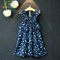 Girls Summer Dress Clothing sets Kids Bohemia style printing wide leg pants Jumpsuit children camisole Girls Clothes set L191