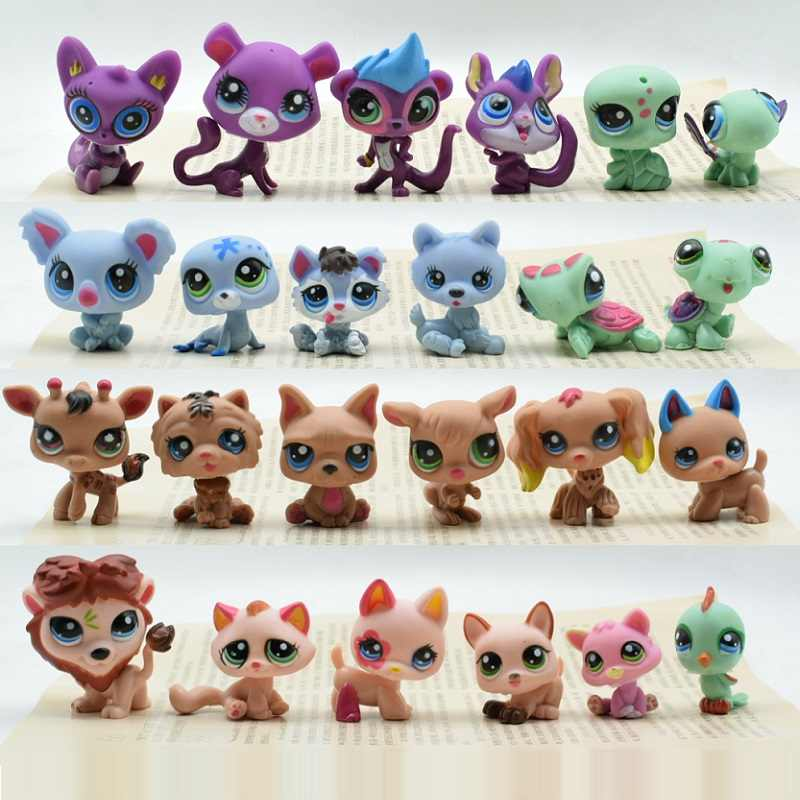Lovely Animals Toy bag 24Pcs lps Puppy and Cat Action Figure Cute Pet Toy Birthday/Christmas Gift 02#