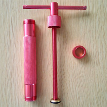 Rose Red Metal Alloy Sugar Paste Extruder Craft Gun with 20 Tips Sugar Craft Fondant Cake Sculpture Polymer Clay Tool Perfect