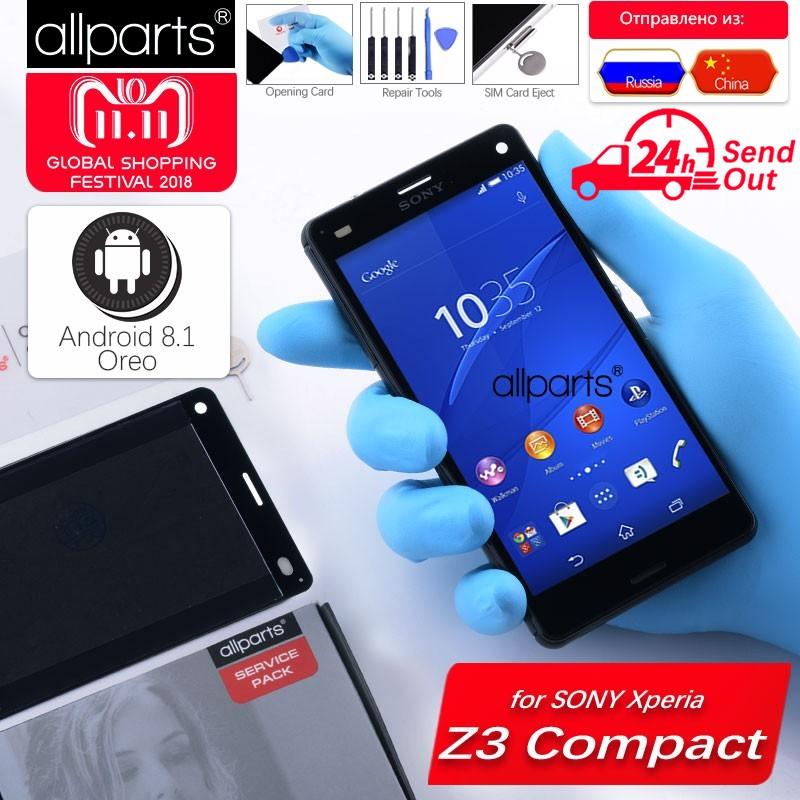 NUEVO Original pantalla para SONY Xperia Z3 Z3 Mini LCD Tactil Completa Display táctil Écran para SONY Xperia Z3 D6603 d6633 D5803 D5833 pantalla LCD con marco Digitalizador reemplazo Negro Blanco