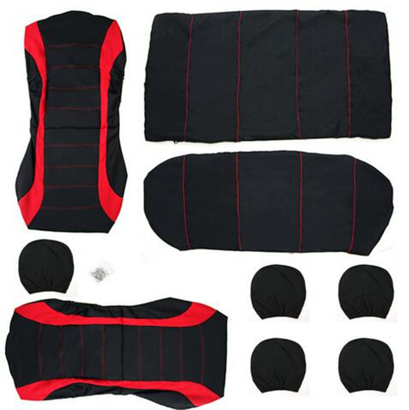 Image 5 - 9 piece set of foreign trade four seasons universal seat cover cushion car fur seat covers set universa women cushion chair red-in Automobiles Seat Covers from Automobiles & Motorcycles