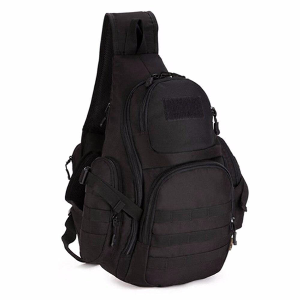 Sac à bandoulière pour sac à dos d'équitation en plein air sac tactique de grande capacité sac de poitrine 14 pouces sac d'ordinateur 135