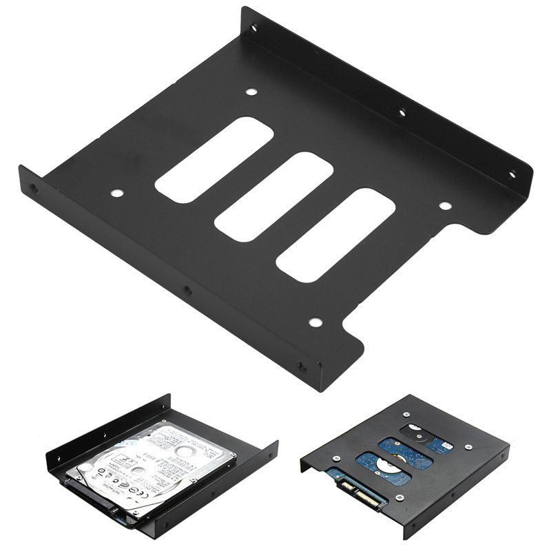 2.5″ to 3.5″ SSD HDD Metal Adapter Mounting Bracket Hard Drive Holder Dock For PC  Laptop Protect Hard Disk Bracket