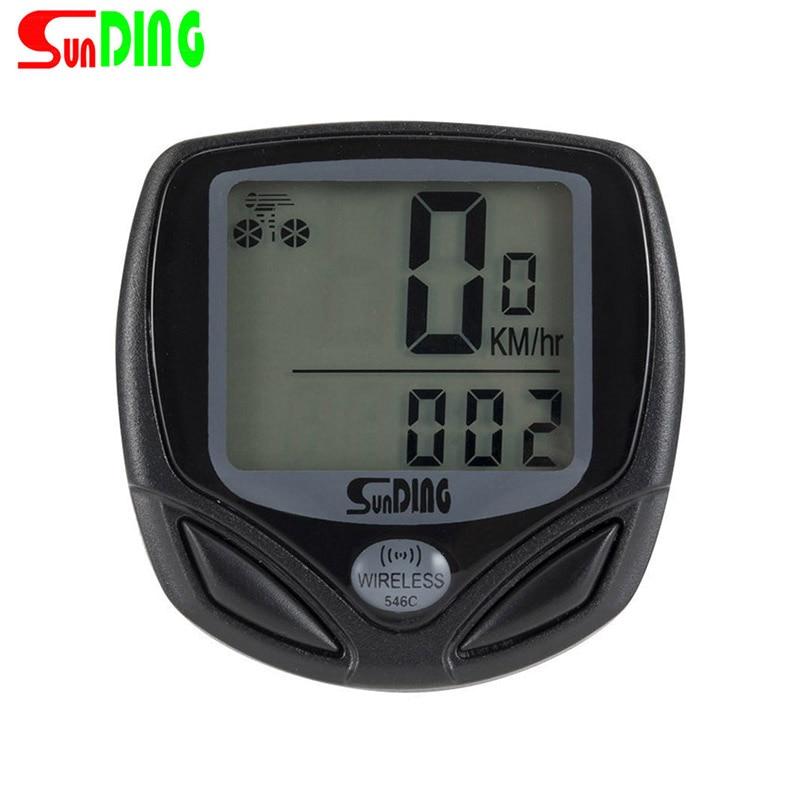 Sunding Bike Wireless Waterproof Computer Bicycle LCD Display Backlight Speedometer MTB Cycling Ultralight Stopwatch
