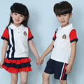 2016 New Kindergarten Pupils Summer Clothing Sissy School Uniforms for Boys and Girls Sport Choral Suit
