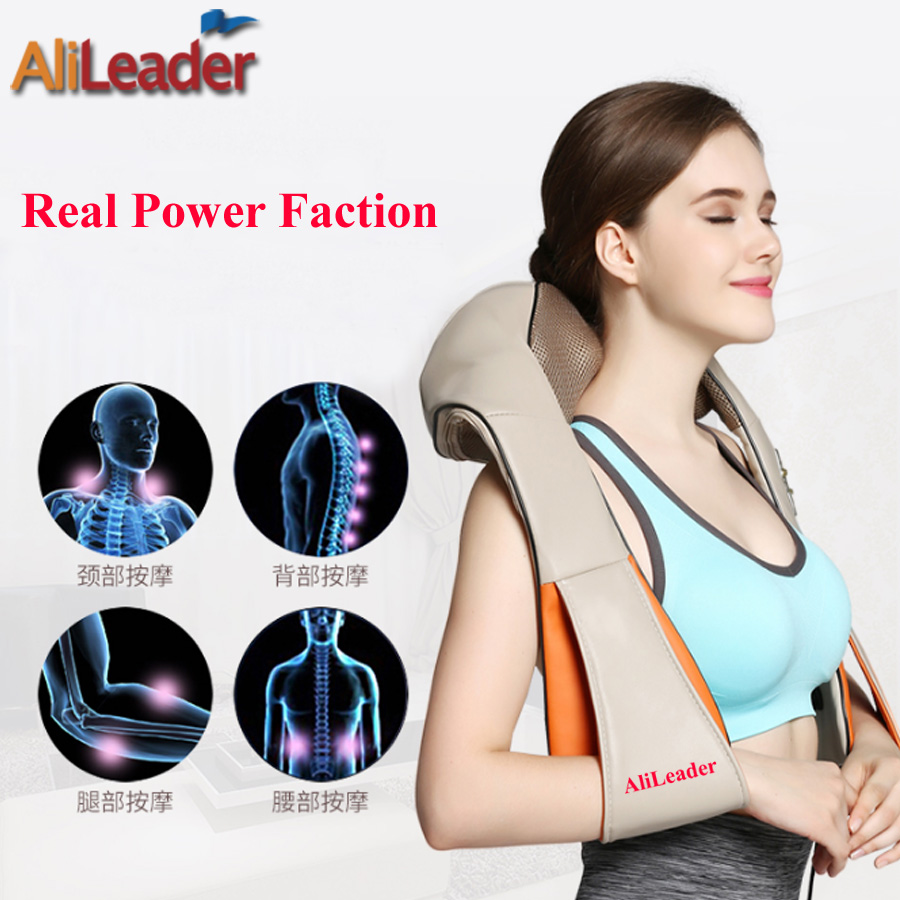 8 Massage Heads Massage Pillow With Heat For Back Neck Shoulder, 4D Shiatsu Kneading Full Body Massage Machine For Back Pain alileader professional massager simulated human 4d shiatsu massage pillow with heat for back neck body massage and relaxation