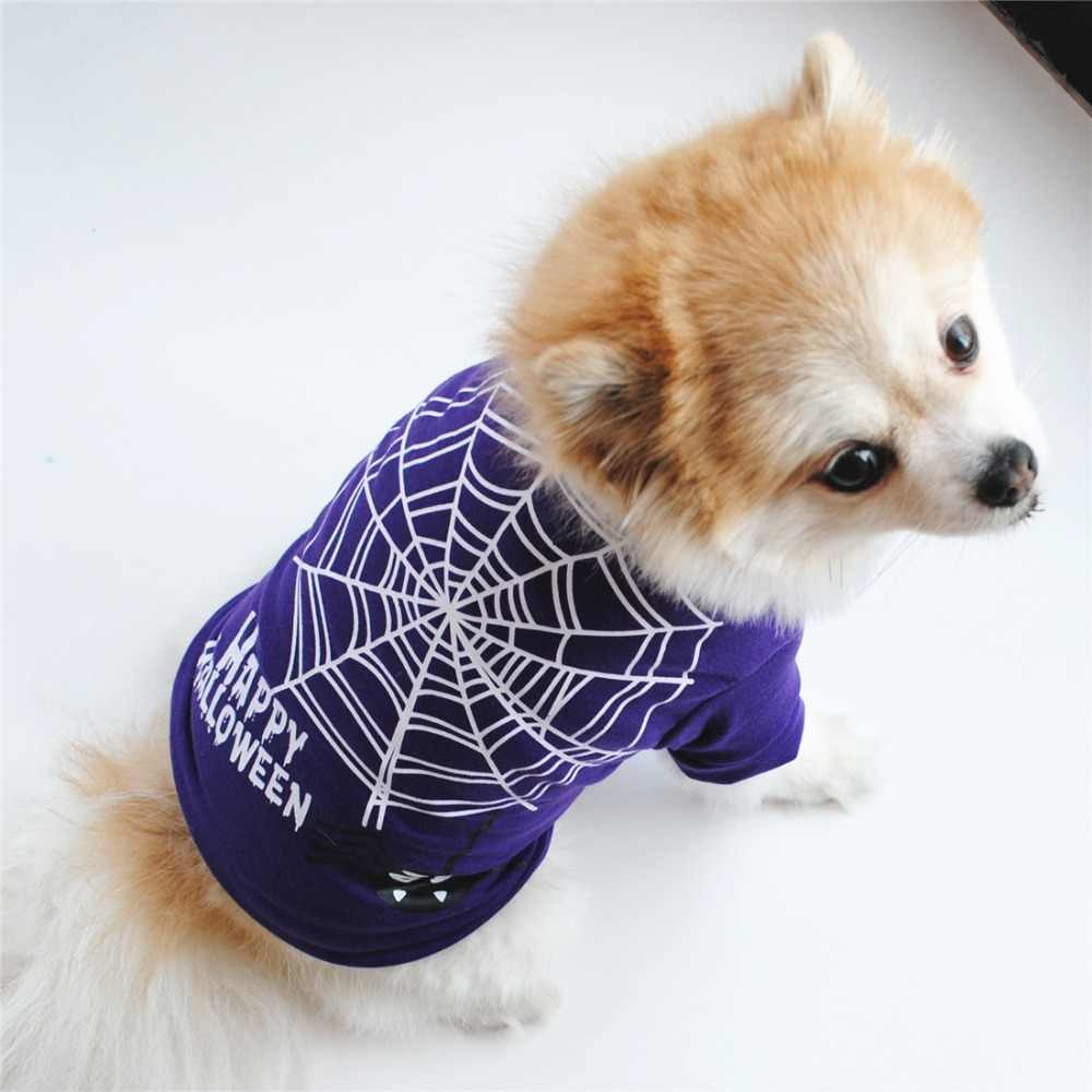 6d39414778e7 ... Dog Accessories New Arrival Christmas Halloween Dog Shirts New Style  Blue T-shirts Spider Web ...