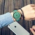 Relojes de Cuarzo de Los Hombres Relojes Casual Color De Madera Correa de Cuero Hombre Reloj Relogio masculino Reloj de Señoras reloj femenino