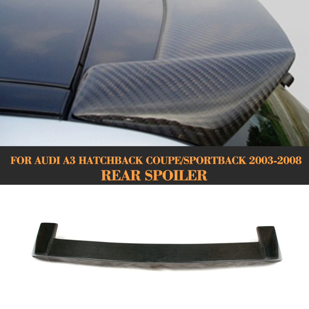 In Fibra di carbonio del Tetto spoiler Ala per Audi A3 8 P Hatchback Coupe 2003-2008 Notfit S3 Sline