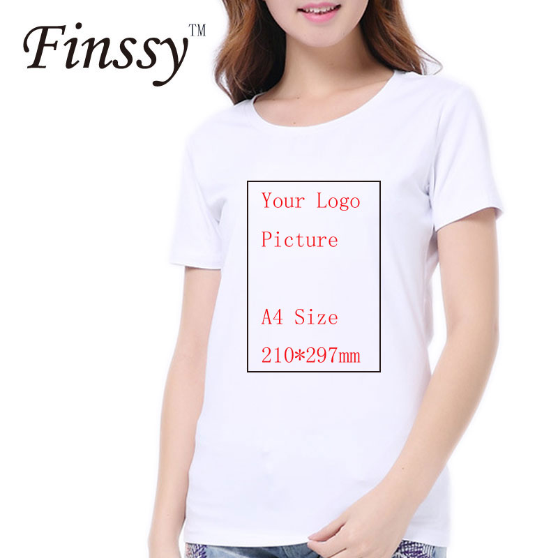 Women Customized T shirt for Women Men Shirts Print Your Own Photo LOGO Picture and High Quality photograph Women Tshirt Print