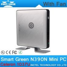 8 г оперативной памяти 32 г SSD мини-пк с вентилятором Intel Celeron 1037U процессор двухъядерный линукс встраиваемые системы