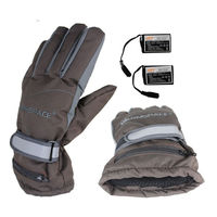 Winter Electric Heating Gloves Outdoor Sports Motorcycle Rechargble Battery Heated Cycle Ski Gloves Hand Back Warm