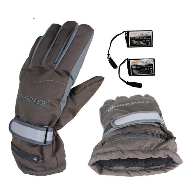 Winter Electric Heating Gloves Outdoor Sports Motorcycle Rechargble Battery Heated Cycle Ski Hand Back