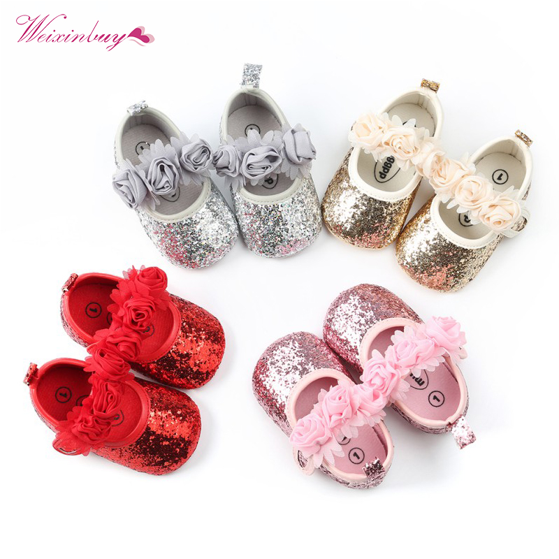 6c72e32eb721 3 Styles Fashion Baby Girls Shoes Newborn Babe Shoes flora bling Bow PU  Leather Prewalkers First walkers Non-slip Shoes