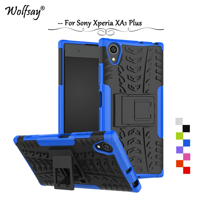 Wolfsay Cover For <font><b>Sony</b></font> Xperia XA1 Plus Case Tough Impact Case Rubber For Case <font><b>Sony</b></font> Xperia XA1 Plus G3412 G3421 G3423 <font><b>G3416</b></font> image