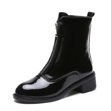 Women's boots women's 2019 new wild hip-hop black women's Martin boots round head British wind trend women's short boots(China)