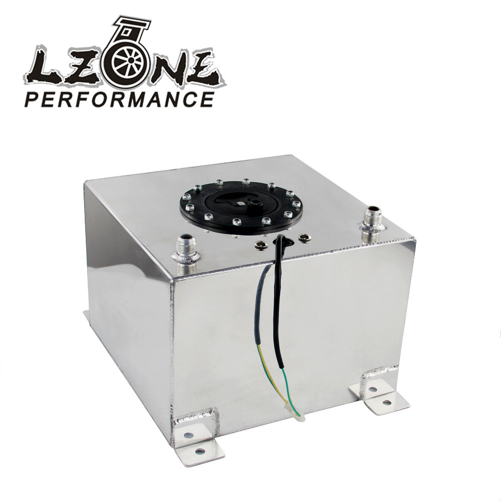 LZONE RACING - 20L Aluminum Fuel Surge tank with sensor Fuel cell 20L with cap / foam inside JR-TK39 20l aluminum fuel surge tank with cap foam inside mirror polished fuel cell without sensor