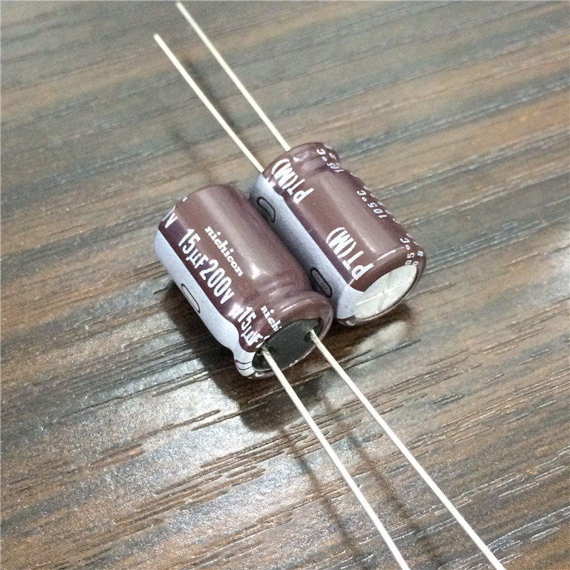10pcs 15uF 200V Japan NICHICON PT Series 10x16mm High Ripple Current Long Life 200V15uF Aluminum Electrolytic Capacitor