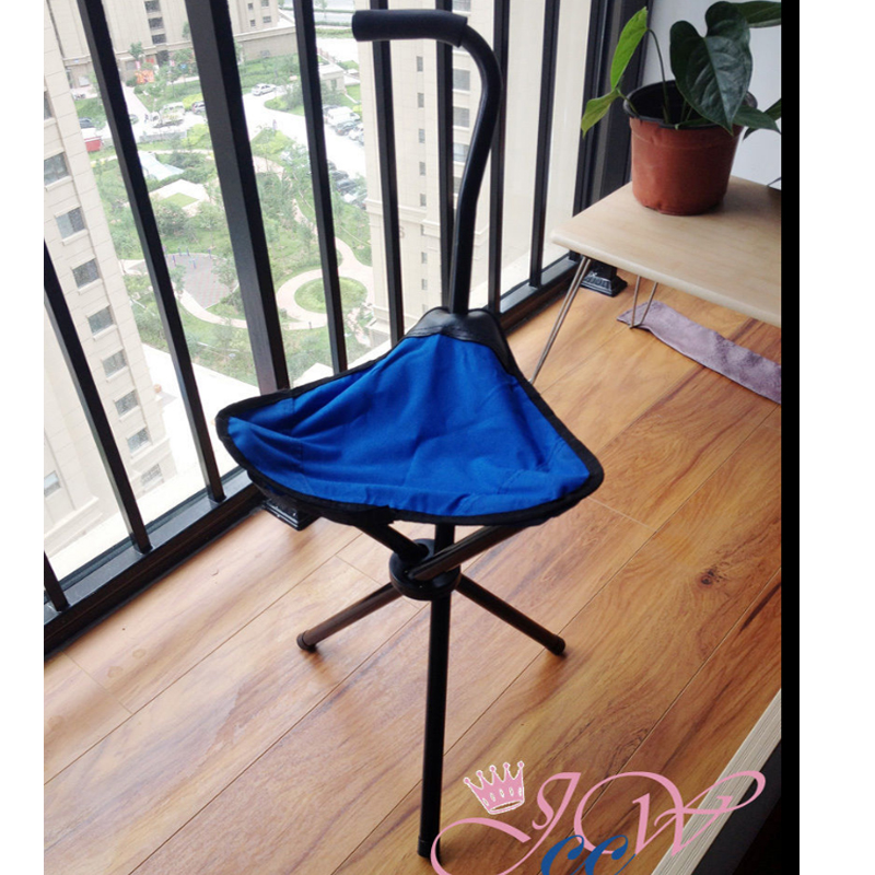 ... New Folding Portable Travel Cane Walking Stick Seat C& Stool Chair ... : walking stool seat - islam-shia.org