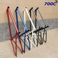 700 c хромированная внутренняя сменная велосипедная рама стальная эксцентричная bb 50 см велосипедная Рама