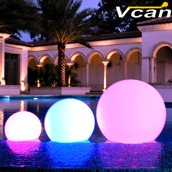 Free Shipping with DHL 8 Pieces Floating on pool Globe with Color Changing control by remote LED Lightings
