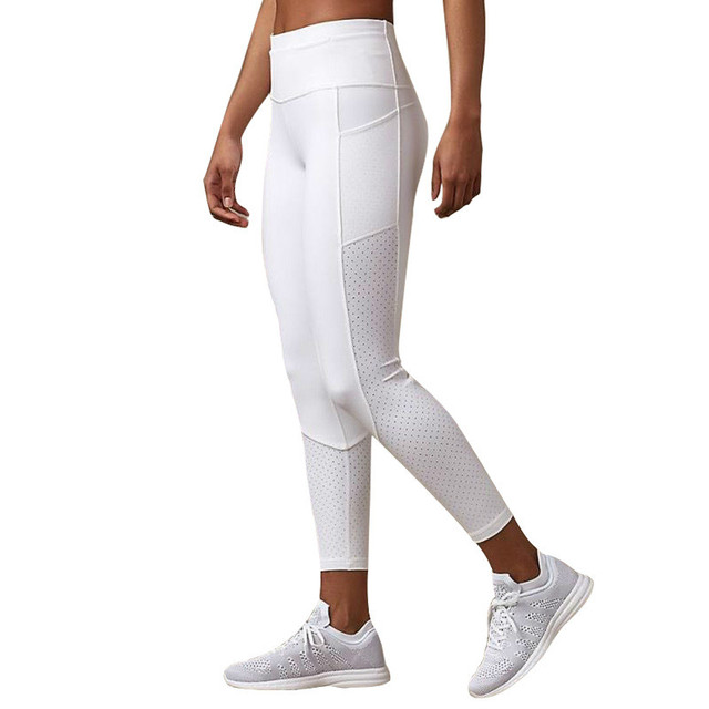 Breathable Stretchy Mesh Yoga Pants with Pockets