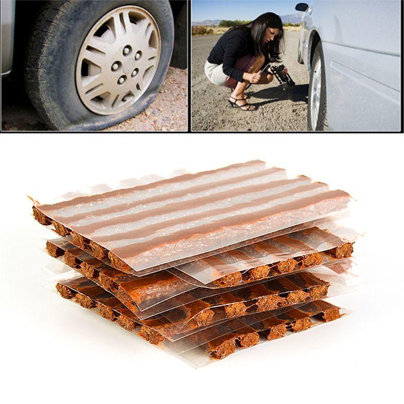 10Pc Car Tubeless Tire Repair Strip For Car Motorcycle Tyre Repair Rubber Strips