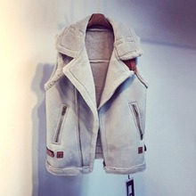 Inverno Coreano Mulheres Colete de Lã Feminino Casual Grosso Quente Camurça Faux Fur Colete Sem Mangas Casaco de Lã de Cordeiro Outwear